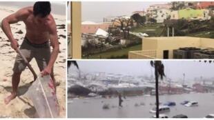 Certains ont barricadé leur maison avec des sacs de sable, avant de se calfeurer et de filmer en direct le déluge.