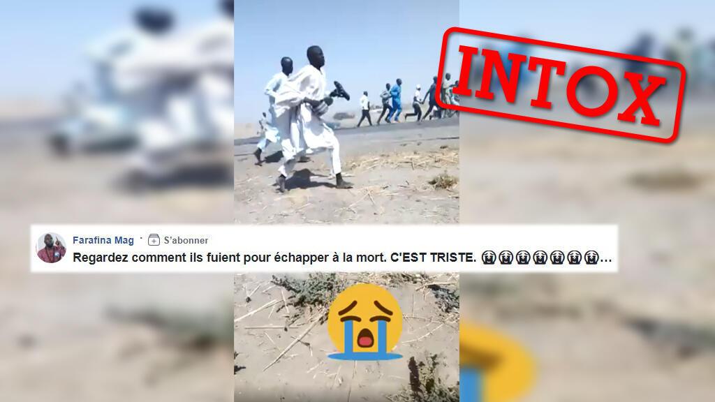 Une vidéo montrant des personnes en train de s'enfuir est associée aux violences dans le centre du Mali. Mais la vidéo est ancienne.