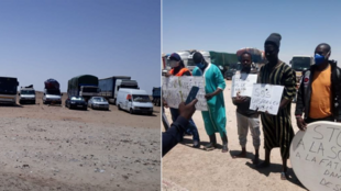 Dozens of Senegalese truck and van drivers were stranded in the province of Western Sahara when Morocco closed its borders with Mauritania March 18.