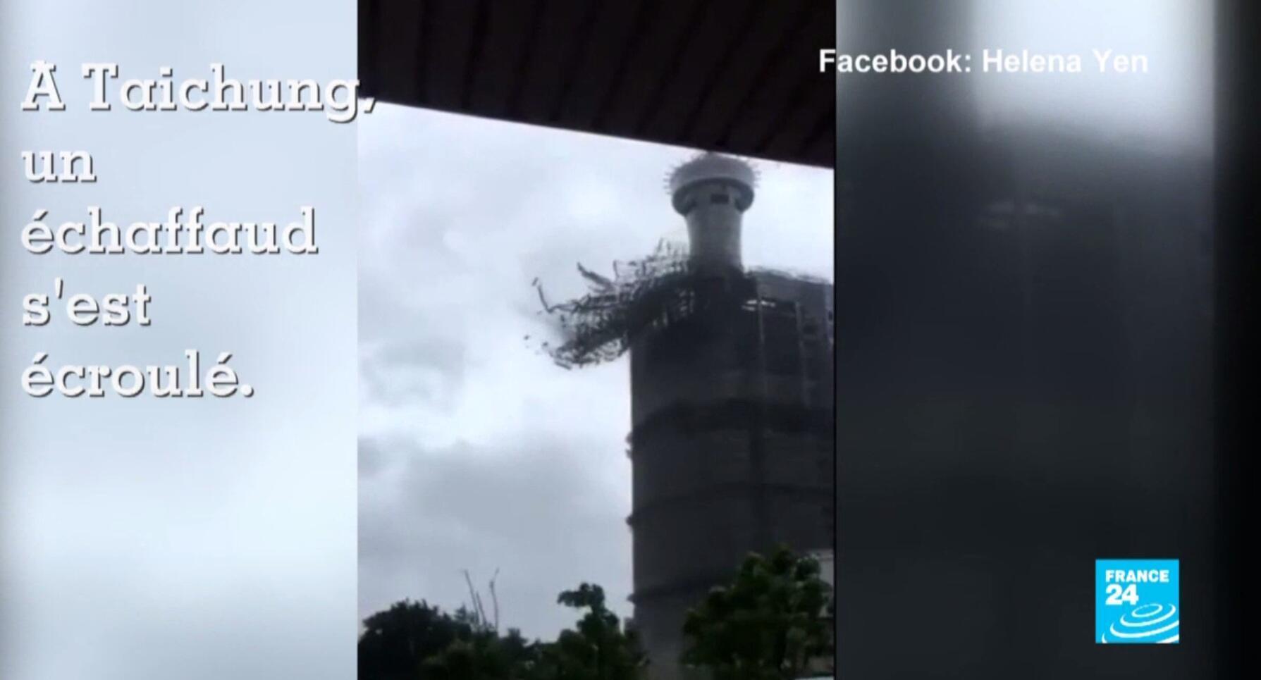 Un second typhon a frappé Taiwan mercredi 28 septembre, après le typhon Meranti il y a quinze jours.