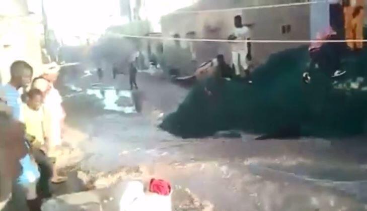 Screengrab of a video filmed on November 19 in the Guet Ndar neighbourhood.
