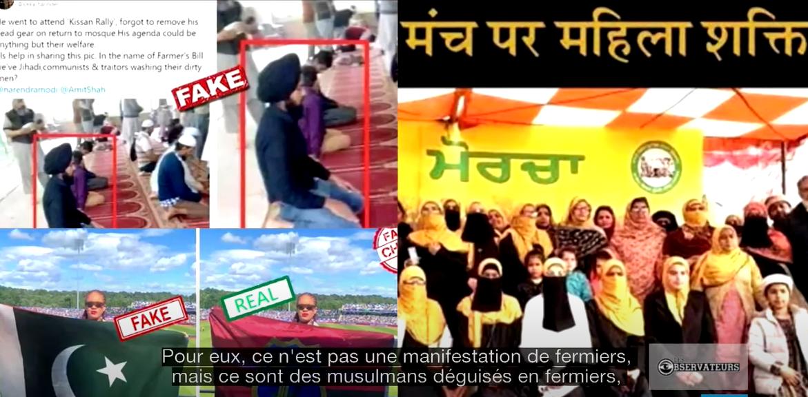En Inde, des intox malveillantes ciblent à la fois les musulmans et les Sikhs lors des manifestations de fermiers.