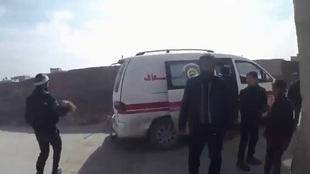 حمله هوایی به یک بیمارستان در غوطه شرقی