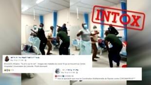 Une vidéo amateur montrant des personnes danser avec des masques dans une salle d'hopital a suscité l'interrogation sur les réseaux sociaux.