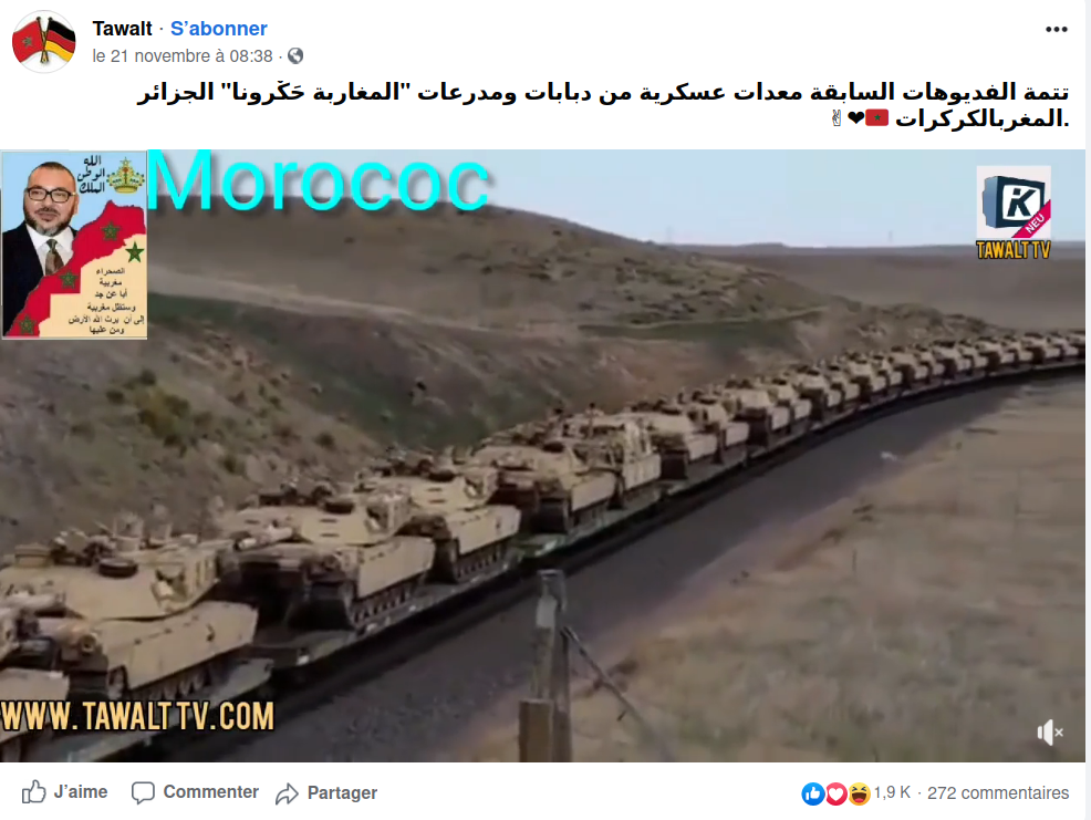 Capture de vidéo Facebook.