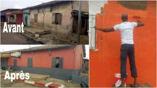 """Des Ivoiriens de Treichville ont décidé de rénover leur avenue avec un résultat surprenant ! Photos """"My Own Business Côte d'Ivoire""""."""